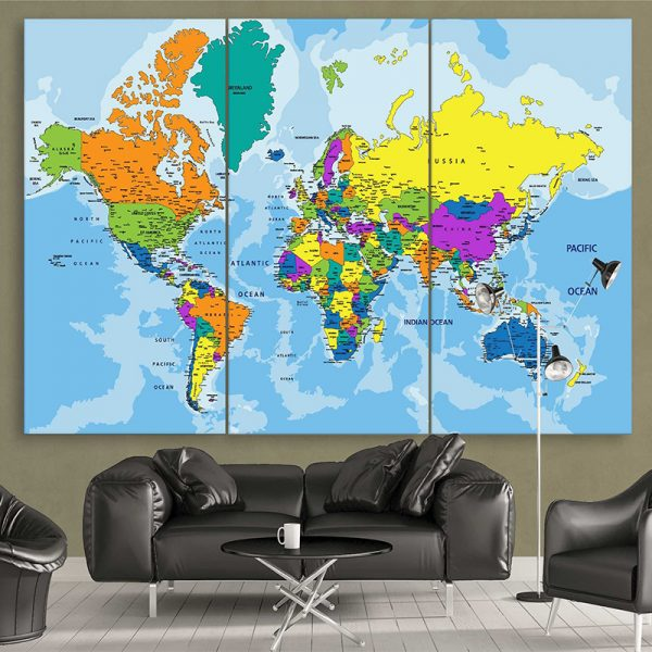 Colorful Political World Map