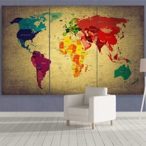 COLORFUL WORLD MAP 2
