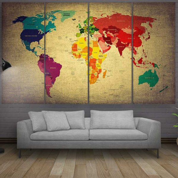 COLORFUL WORLD MAP 3