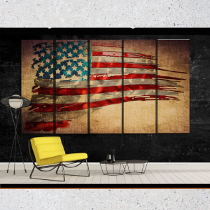 Exclusive Retro USA Flag Art