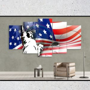 Retro American Country Flag of USA