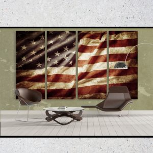 Retro American Flag Cloth