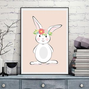 Cute Bunny Rabbit Canvas