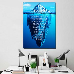 1-Panel-Success-Quote-Canvas-Wall-Art-interior