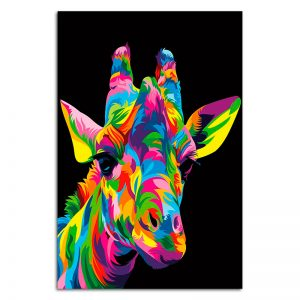 1-Piece-Royal-Giraffe-by-Weer-Nature's-Colors-Collection-Canvas-Wall-Art