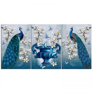 Two Peacocks Canvas