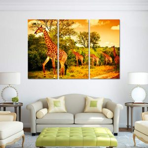 3-Piece-Giraffe-Canvas-Print-interior