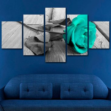 Blue Rose Blossom Canvas