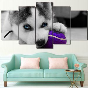 Husky Puppy Canvas