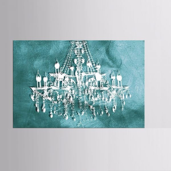 1 Panel Modern Retro Crystal Chandelier