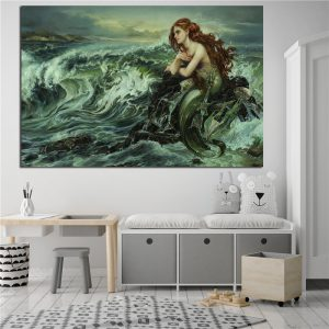 1 Panel Oil Canvas Mermaid
