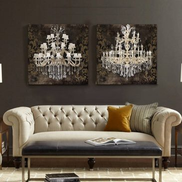 1 Panel Still Life Chandelier Canvas Art