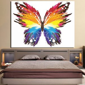 1 Panel Abstract Butterfly Canvas Print