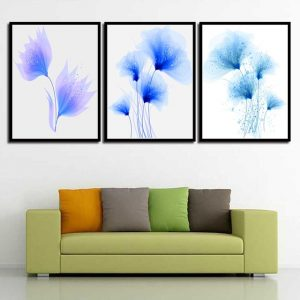 3 Panel Abstract Dandelion Canvas Art