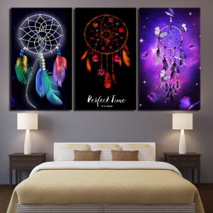 3 Panel Fancy Colorful Dreamcatcher