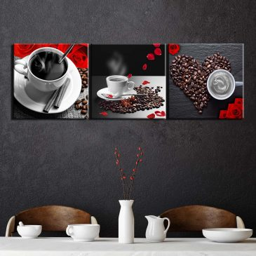 3 Panel Modern Coffee Love