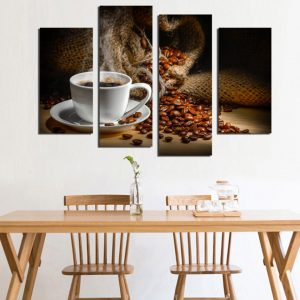4 Panel Fagrant Coffee Beans