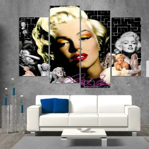 4 Piece Marilyn Monroe Canvas Art