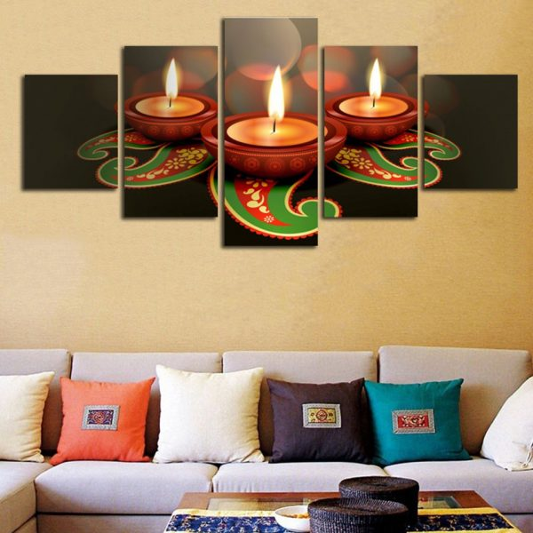5 Panel Animated Clay Lamps