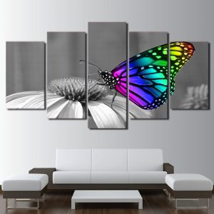 5 Panel Beautiful Butterfly