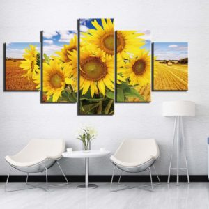 5-Panel-Beautiful-Sunflowers