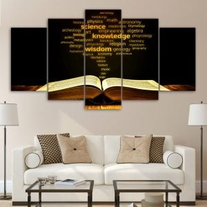 5 Panel Bible Canvas Print
