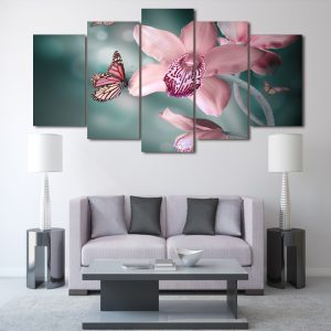 5 Panel Butterfly in Orchid