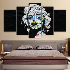 5 Panel Day of the Dead Face Marilyn