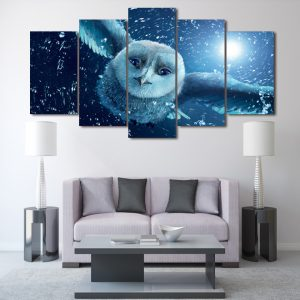 5 Panel Flying Owl Canvas Art