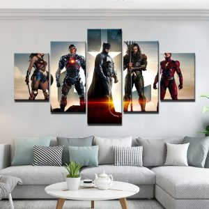 5 Panel Justice League Heroes