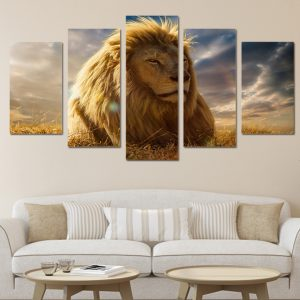 5 Panel Lion King Canvas Prints