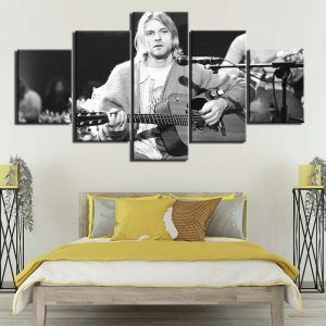 5 Panel Music Poster Canvas Art