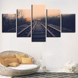 5 Panel Train Railway