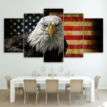 5 Piece Eagle in US Flag