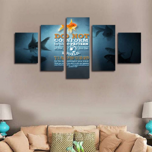 5 Piece Romans 12:2 Canvas Print