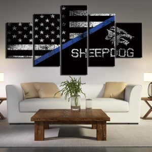 5 Panel Sheepdog American Flag