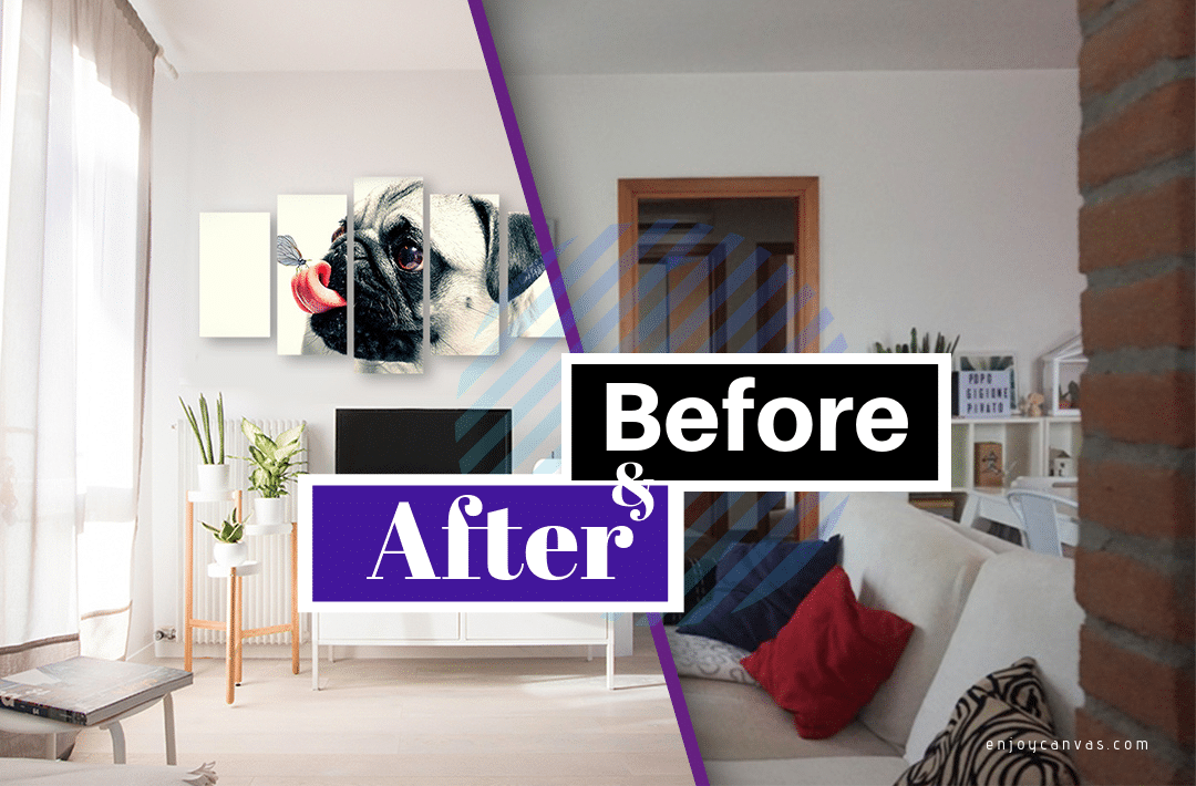 Before and After Projects with Multi-panel Canvas Art