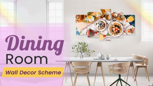 Dining Room Wall Decor Scheme for an Intimate Dining Experience