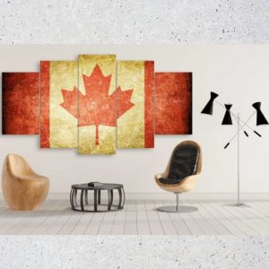 Canada Retro Flag With Scratches