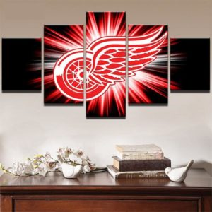 Detroit Red Wings Red and White Logo (Black)