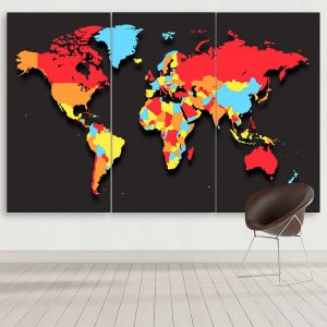 Four-Color World Map