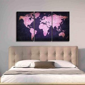 Purple And Pink World Map