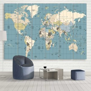 Ultimate Travel Map Canvas