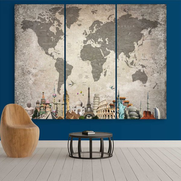 World Map Light Overlay (With City Names)