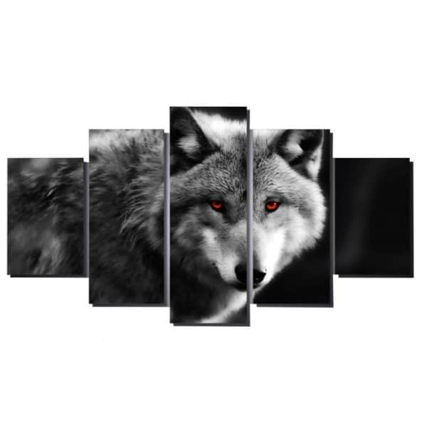 Wolf In Red Eyes