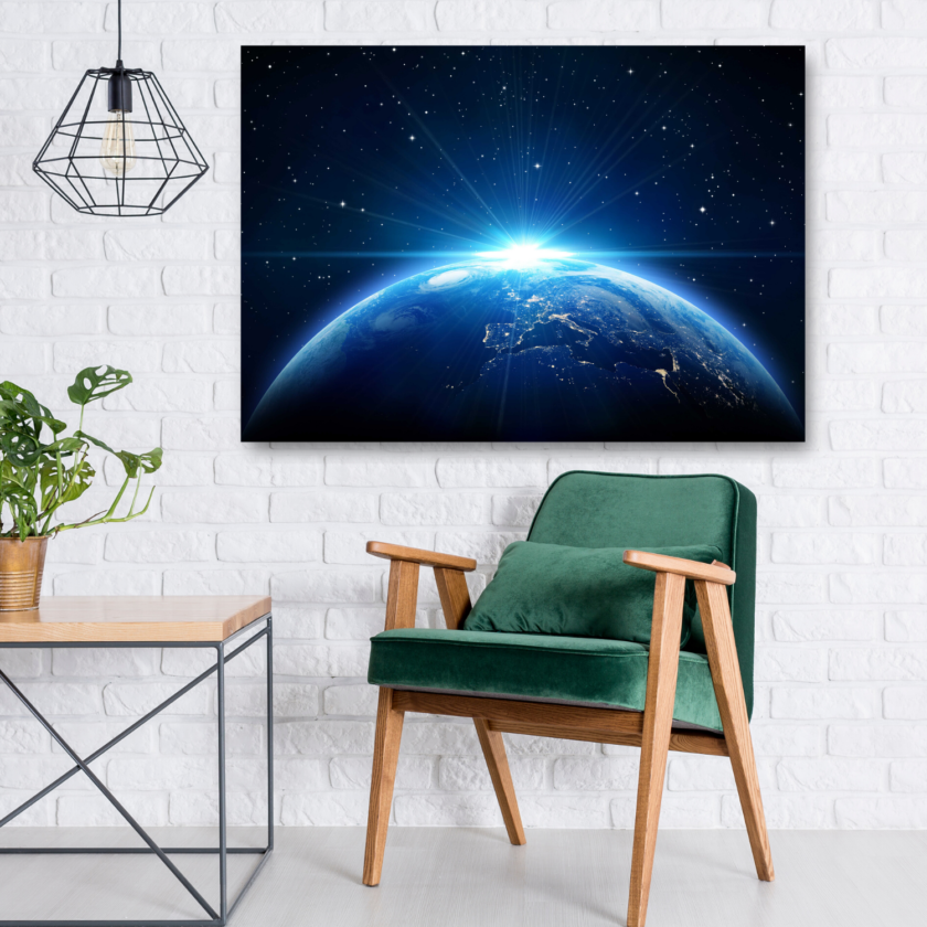 Earth from Space Canvas Art