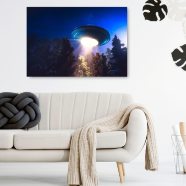UFO Canvas wall art